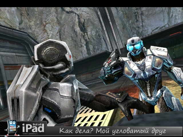 N.O.V.A. 2 - Near Orbit Vanguard Alliance HD скриншот из игры на iPad