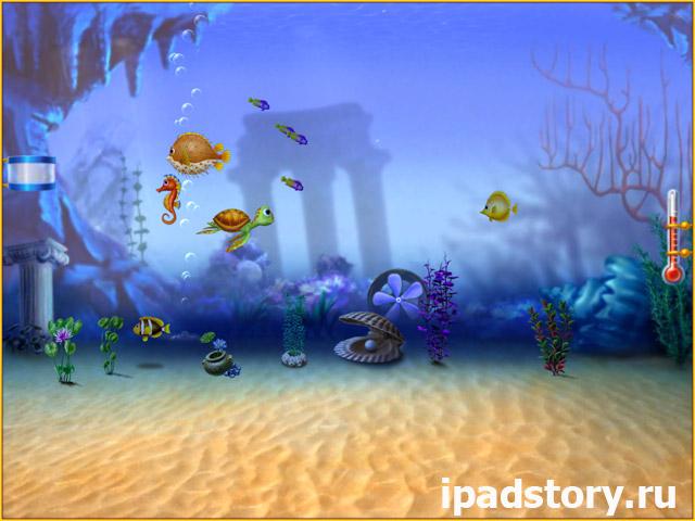 Match 3, Fishdom HD на iPad, аквариумы в игре