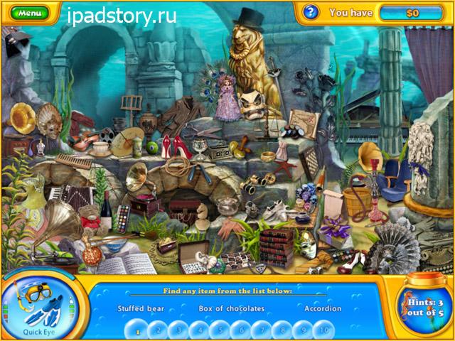 Fishdom H2O: Hidden Odyssey HD - игра в жанре поиск предметов на iPad