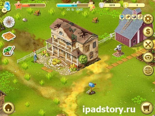 Ферма Джейн HD - начало игры