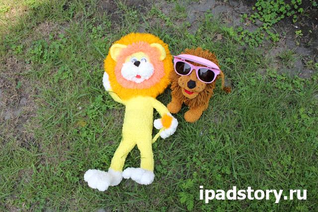 вязаный львенок из мультфильма Как Львёнок и Черепаха пели песню вместе со львом из игры Веселая ферма 3