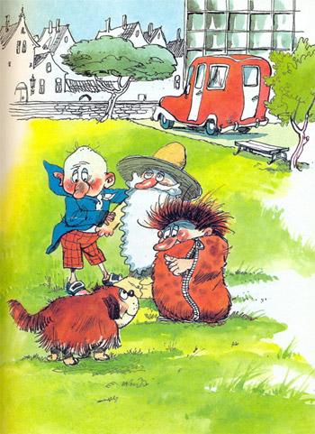 Муфта, Полботинка и Моховая Борода, рисунок Эдгара Вальтера