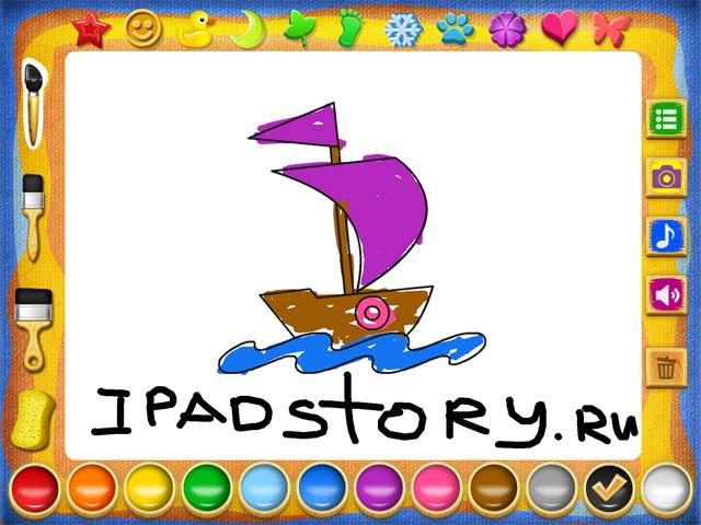 Рисование и раскраска - приложение для детей на iPad
