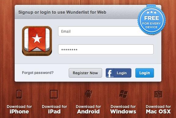 Wunderlist iPad