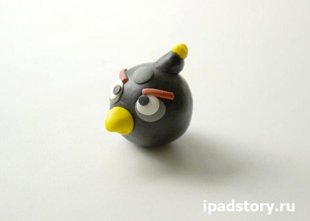 птичка Angry birds из полимерной глины – мастер-класс