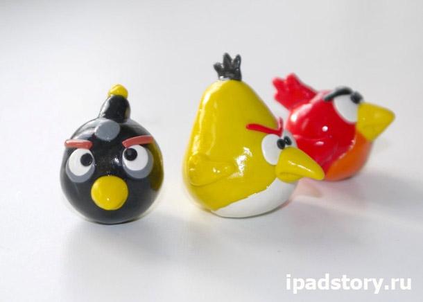 птичка Angry birds из полимерной глины