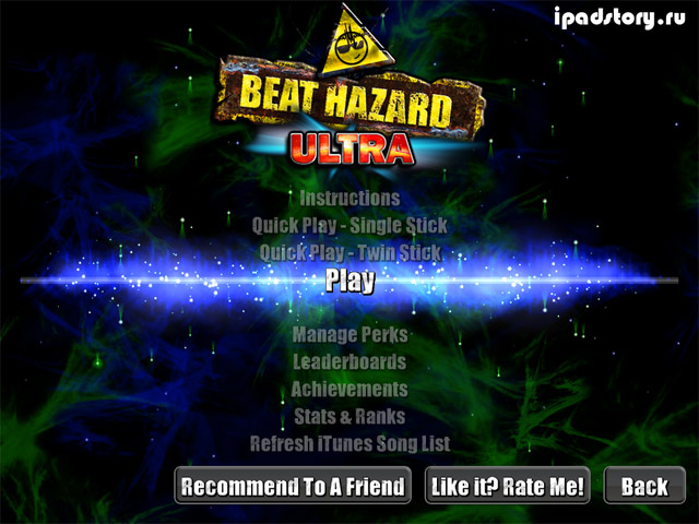 Beat Hazard Ultra - игра на iPad