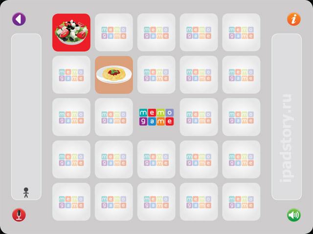 Memo-Game - детская игра для iPad