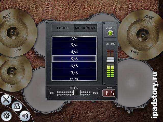 Барабанная установка - приложение для iPad