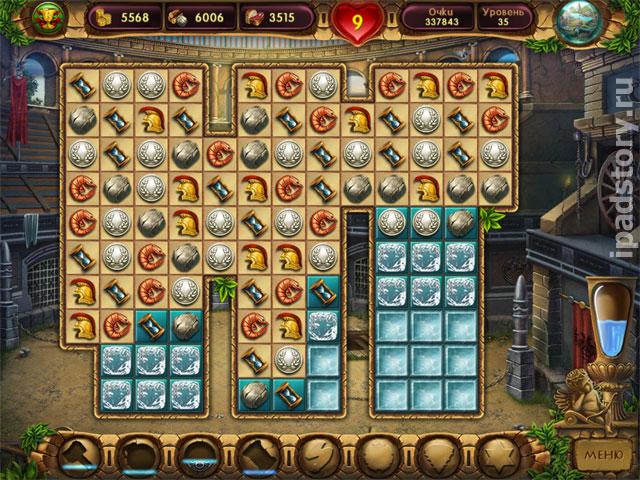"""Cradle of Rome 2 HD - красивая игра в жанре """"3 в ряд"""""""