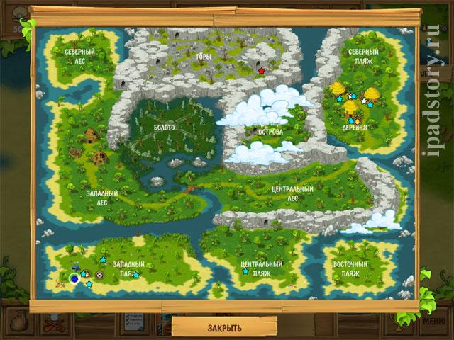 Остров - Затерянные в океане HD, карта острова
