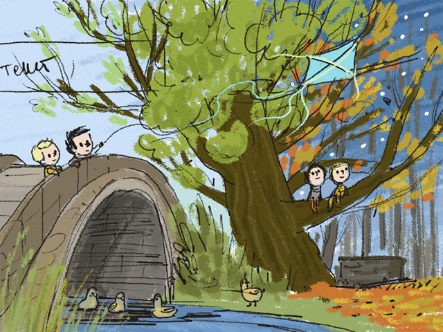 Дракон и Волк. Интерактивная книжка для детей - эскиз