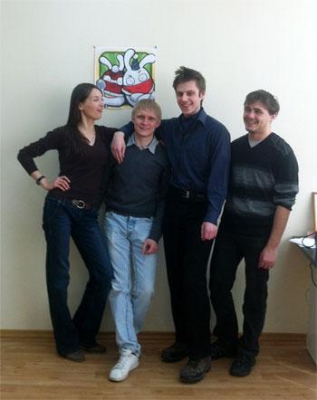ребята из Grizzly Jr, Саша Морозов второй слева :)