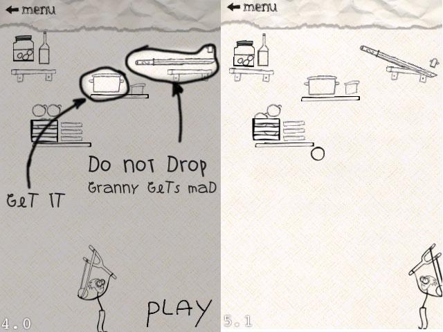 прототип: мальчик с рогаткой бегает и сбивает различные предметы с полок в верхней части экрана