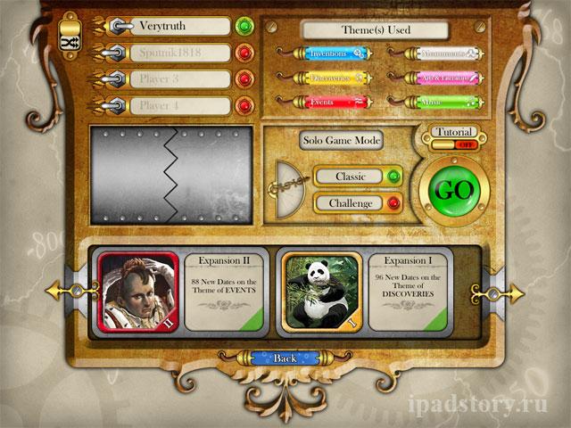 Timeline for iPad - настольная игра Путешествие во времени