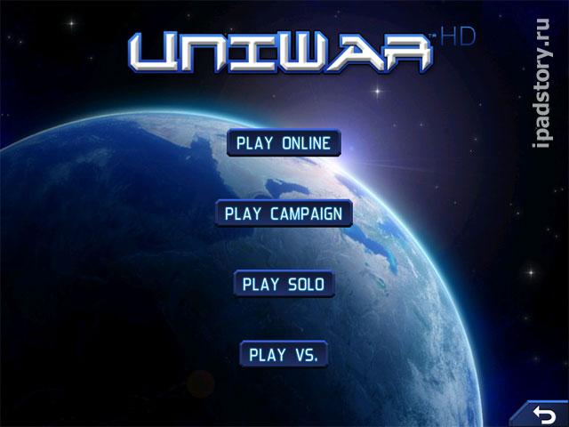 UniWar HD - режимы игры на iPad