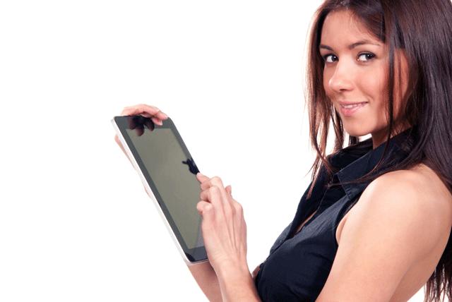 девушка с iPad
