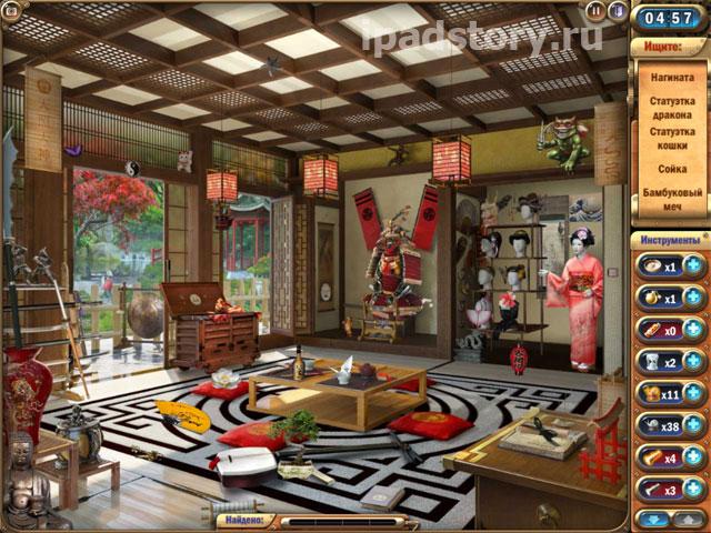 комната Сакур в игре Загадочный дом на iPad