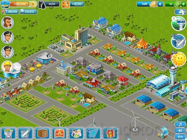 Аэропорт-Сити HD - игра для iPad, дороги в игре