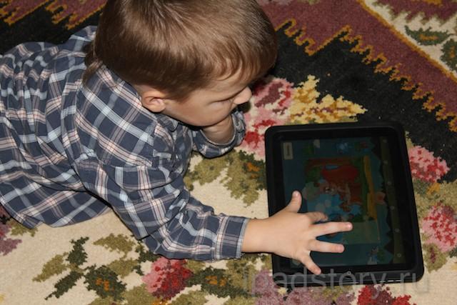 Дошкольное обучение на iPad - Ярик с айпадом