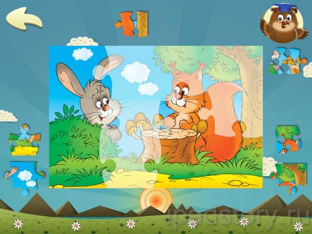 Дошкольное обучение на iPad: пазл