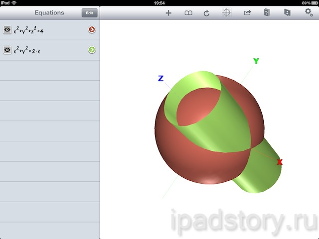 Quick Graph - приложение для iPad