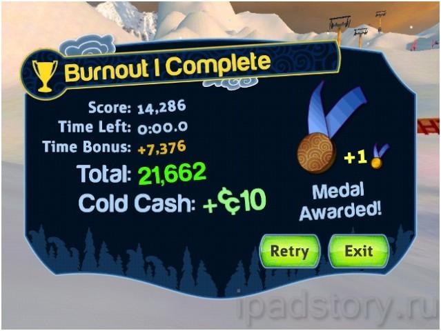 SummitX Snowboarding HD – хороший симулятор сноуборда на iPad