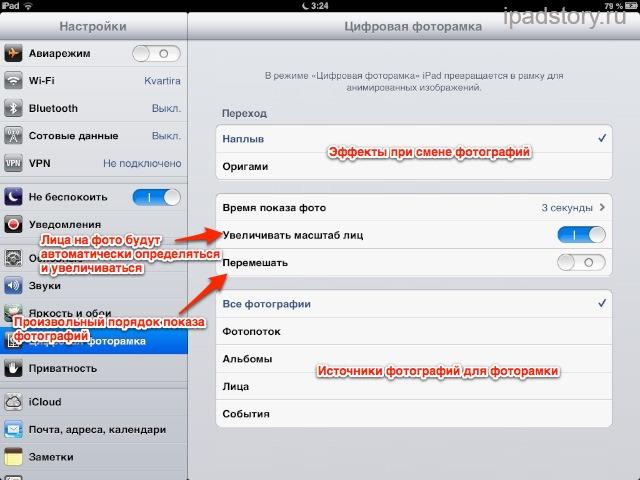 Цифровая фоторамка iPad