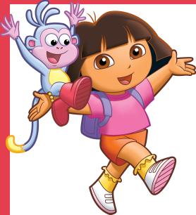 Даша, героиня мультфильма «Даша-путешественница» на телеканале Nickelodeon