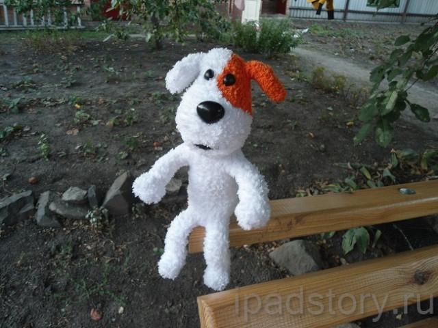вязаные игрушки из игры Город Тайн - пес Рекс из польского мультфильма