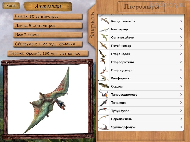 летающие динозавры названия и фото