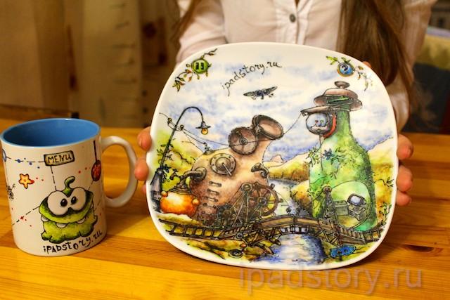 кружка и тарелка в подарок :)