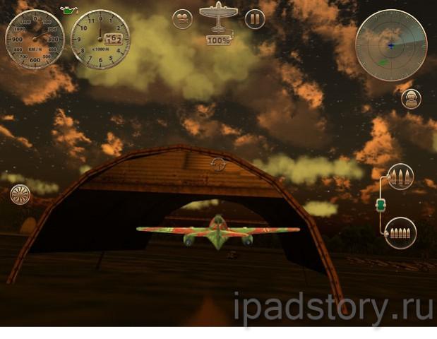 игра Sky Gamblers: Storm Raiders на iPad
