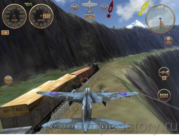 игра Sky Gamblers: Storm Raiders на iPad - скриншоты в режиме Кампания