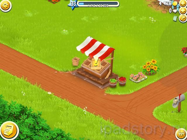 рынок в игре Hay Day для iPad