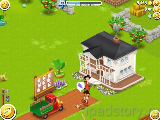 Hay Day - соседи в игре на iPad