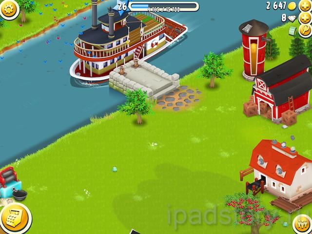 лодка в игре Hay Day