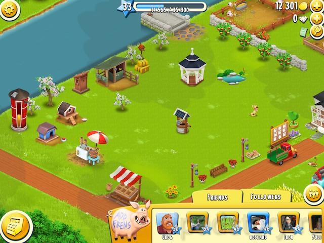 друзья в игре Hay Day через Facebook
