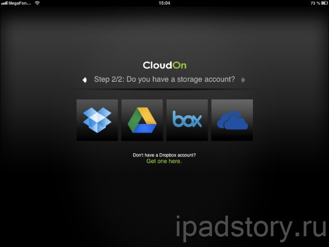 CloudOn - облачное хранилище для iPad