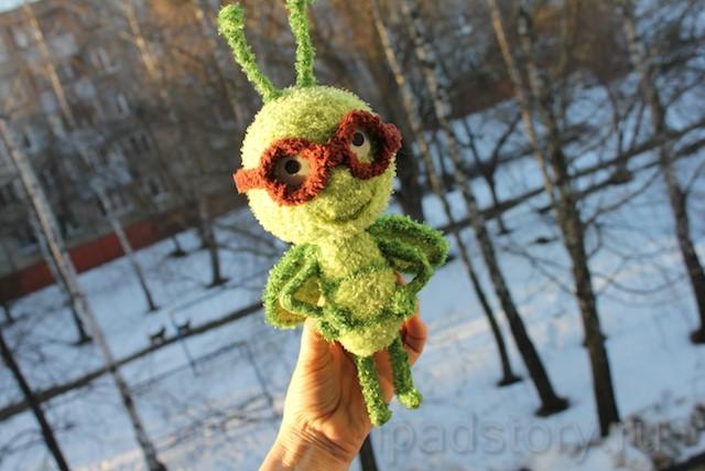 вязаный жучок - логотип  Little Beetle