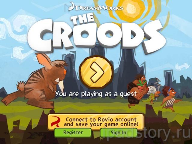 The Croods - игра на iPad