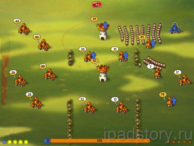 Война грибов на iPad