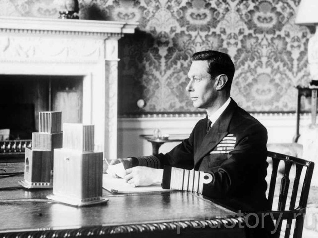 фотография английского короля Георга VI