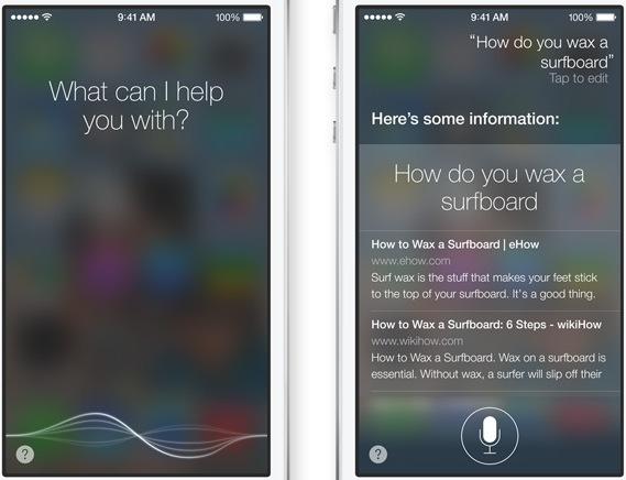 Siri на iOS 7