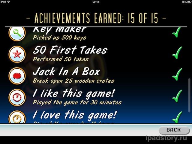Jailhouse Jack - достижения в игре
