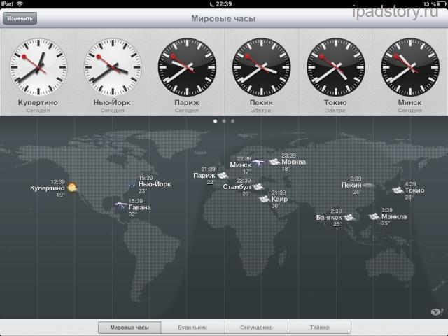 Мировое время iPad