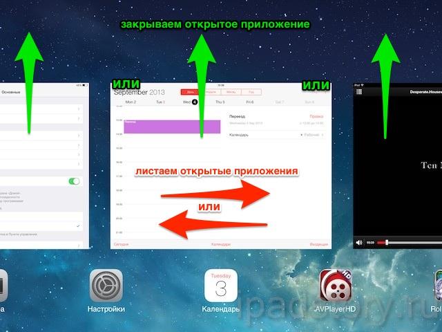 Как закрыть приложение на iPad iOS 7