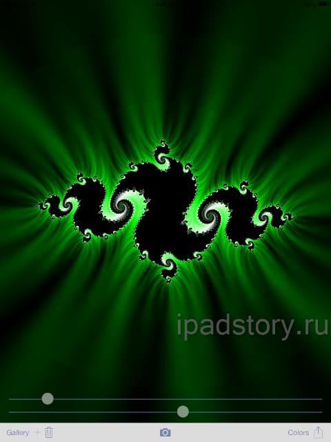 В Magic Fractals также есть второй тип фракталов - множество Жюлиа
