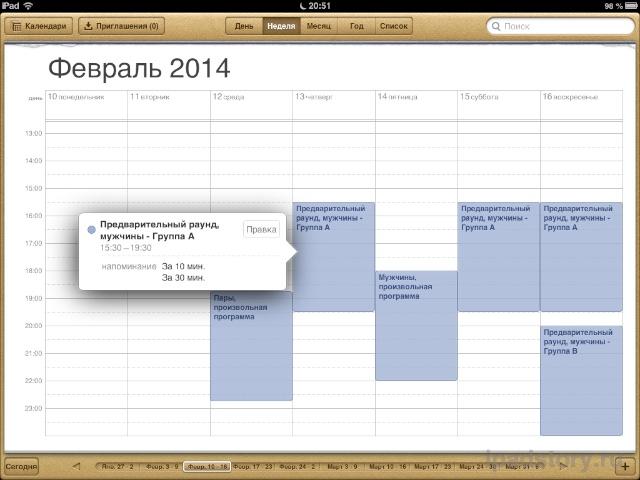 Сочи 2014 на iPad