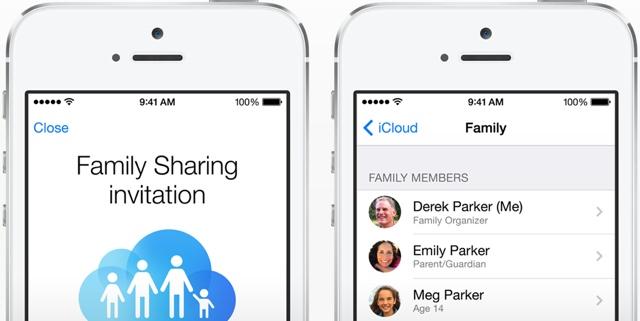 Family Sharing iOS 8